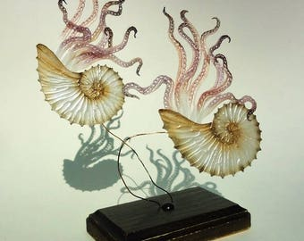interior,art,Sculpture,object,decoration,Pearl White,sea shell,Octopus,Instagenic,instagrammable,