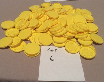 Medical flip top caps large yellow