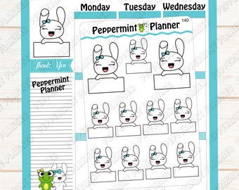 Jellybean small boxes --- Planner Stickers ---140