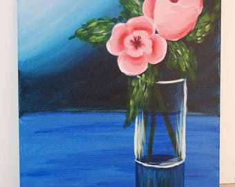 Pretty Poppies Acrylic Canvas Painting