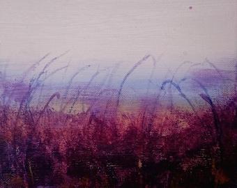 Purple box (original, acrylic painting, 20 x 20 cm)