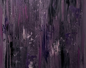 Purple (abstract oil painting, 40 x 30 cm)