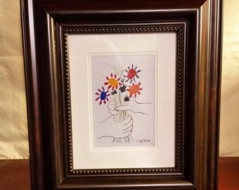 SALE! Original Pablo Picasso Lithograph with Certificate of Authenticity