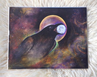 Raven Moon // 11x14 inch Giclee Reproduction