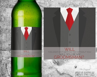 GROOMSMEN PROPOSAL, Groomsman Proposal, Best Man PROPOSAL, Groomsmen Beer Label, Best Man Beer Label, Wedding Beer Proposal, Usher Proposal