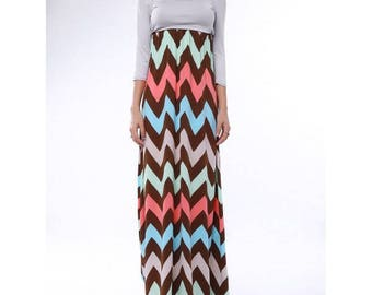Bohemian dress,Maxi dress,long dress,Zigzag dress, chevron dress,long dress