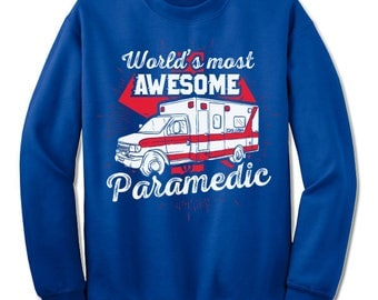 Paramedic EMT Sweatshirt Sweater.  Paramedic Sweatshirt for Men and Women. Paramedic Christmas Gift.