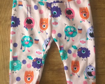 Candy Monsters Cotton Knit Leggings