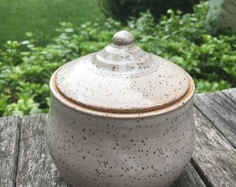 White Speckled Jar