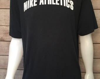 Vintage White Tag Nike Athletics T-shirt Made in USA Nike Shirt