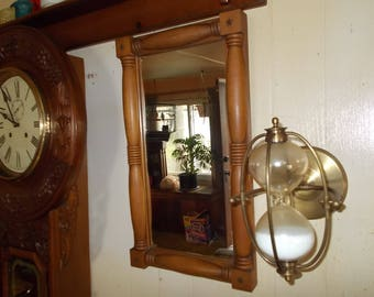 Vintage Wood Framed Mirror