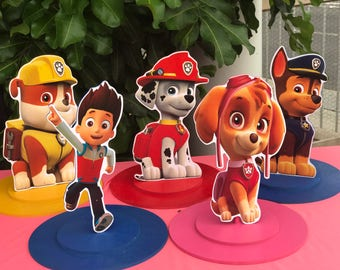 Paw Patrol Ryder,Skye, Chase, Marshall, Rubble Birthday For Boy, Birthday for Girl Centerpieces