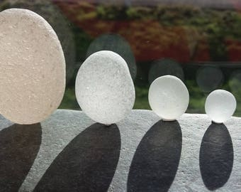 A Family of Seaham Sea Glass Giant Eggs by SeaFindsScotland Collectible English Sea Glass Rare English Beach Finds