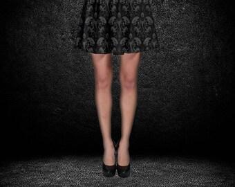 Xenomorph Skirt - Skater Skirt Alien Skirt Facehugger Skirt Sci-Fi Skirt Plus Size Skirt Space Horror Skirt Aliens Skirt Oddity Apparel