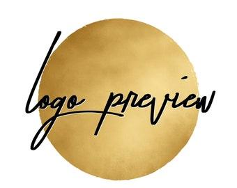 Pre-made Logo PREVIEW ONLY - Logo Design, Branding, Small Business Logo, Small Modification