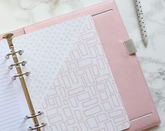 Pink Doodle Pocket Folder | Planner Pocket | Pocket Divider | Pocket Dashboard - A5
