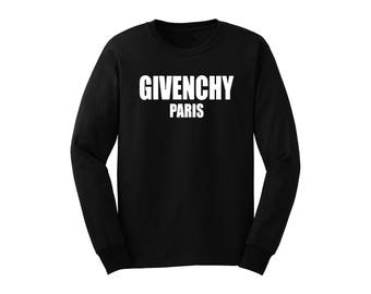 Givenchy Paris Inspired Long Sleeve Unisex Shirt