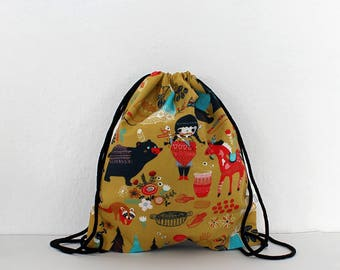 Kids Backpack – little indian girl