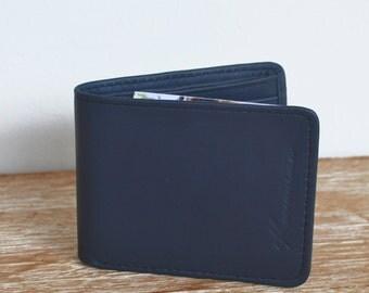 "Wallet blue leather ""JANTAN"""