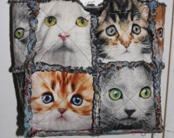 Cat Face Rag Bag