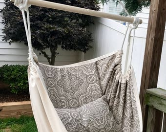 Double Sided Hammock Chair Swing, Indoor/Outdoor Hanging Chair, for Kids and Adults
