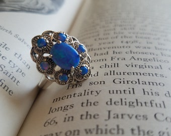 Opal Antique Vintage-Style Ring Sz 7