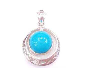 Silver turquoise pendant.