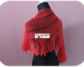 """Made to Order """"Simply Flowers"""" Shawl - hand knitted lace scarf shawl merino crescent wrap soft airy lightweight handmade elegant and casual"""