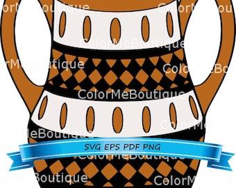 Native American Clay Pot Clipart