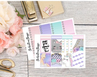 Make A Wish Weekly Kit Planner Stickers - For Erin Condren Life Planner