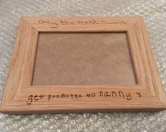 childs drawing photo frame, personalised frame, present for mum, gifts for dad, gifts for mum, gift for nanny, Grandparent gift