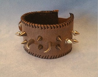 Spiked Leather Bracelet