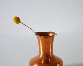 Artisanat de petit vase de cuivre vintage