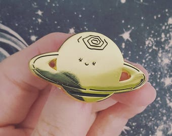 Super Shiny Saturn Enamel Pin