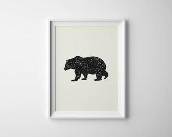 Bear Poster | Bear Constellation | Woodlands Nursery | Art Print | Bear Printable