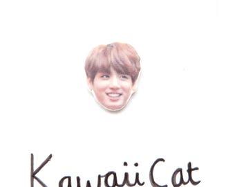 BTS Kpop Jungkook Pin Kpop Accessories Shrink Plastic BTS Pin Badge Brooch Kawaii Cute Bangtan Boys