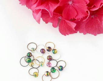 O-MY O rings// Glass Stitch Markers// Beaded Knitting Markers// Progress Keepers