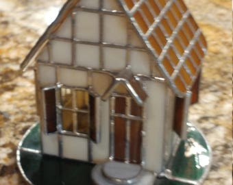 """Stained Glass """"Mouse House"""""""
