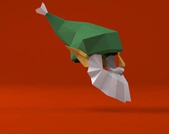 Christmas Elf Low Poly Mask Download PDF