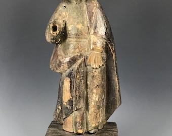 19th Century Carved Wood Religious Saint Joseph Statue