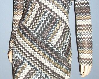 Vintage, 90s, Evan-Picone, knit, striped, dress, size 10