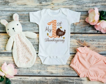 Thanksgiving outfit baby girl - Baby girl thanksgiving outfit - Baby first thanksgiving outfit - My first thanksgiving - My 1st thanksgiving