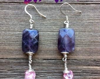 Amethyst and pink quartz