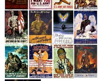 Vintage WWII Posters Digital Collage Sheet - TT - 006 - Instant  Download