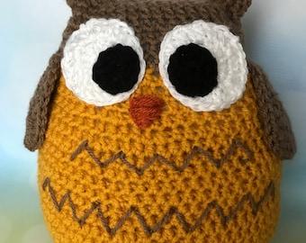 Crochet owl softie plush
