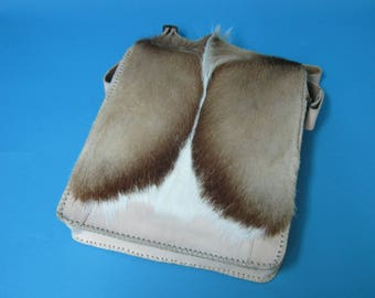 Springbok Fur and Leather Bag (1112-SCB-MD-G04)