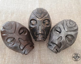 3-Pack Dragon Priest Masks Wooden Mask, Morokei, Krosis, Skyrim, Handmade Prop Replica The Elder Scrolls V: Skyrim, Halloween costume.