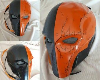 Inspired Deathstroke Mask, Deathstroke Helmet, Deathstroke Costume, DC comics, Batman Arkham Origins, Redhood Mask, Halloween Mask.