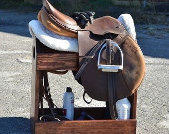 All-In-One Travel Saddle Stand/Rack and Tack Box