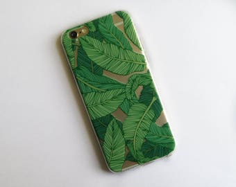 Transparent Banana Leaf Case for iPhone  5 / 5S / SE / 6/ 6S